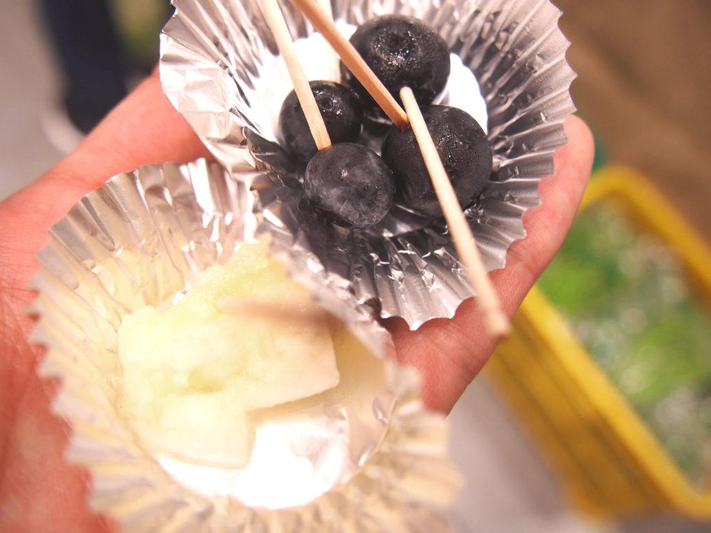 グレイスファームの有機野菜を試食