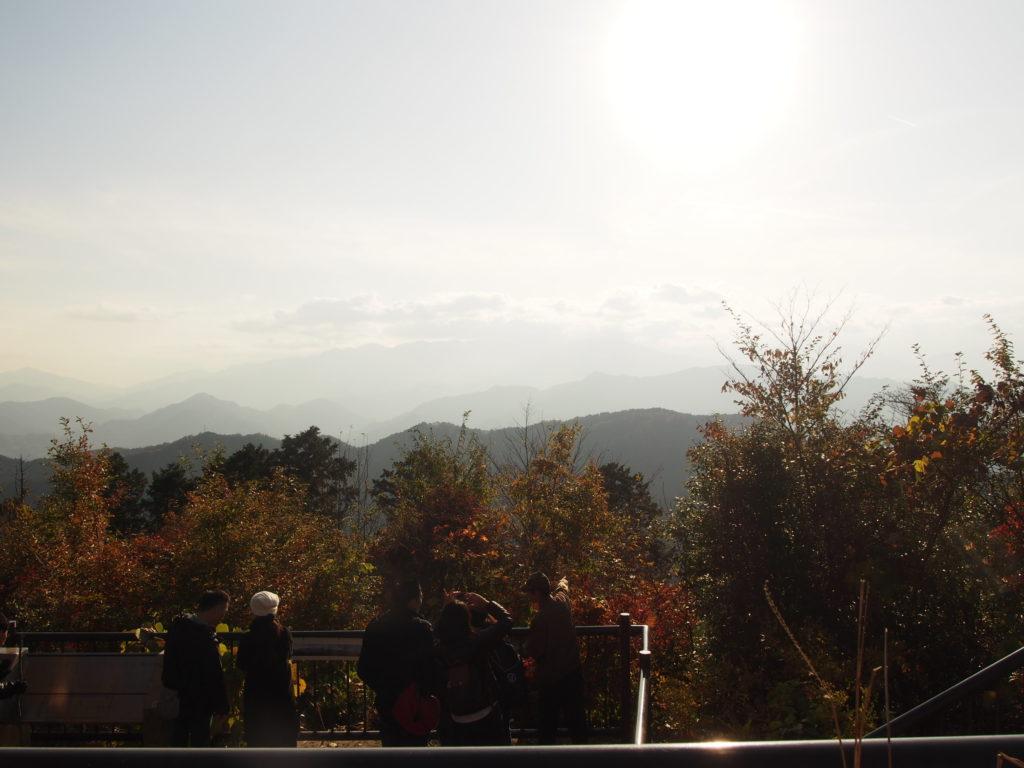 高尾山頂上からの見晴らし