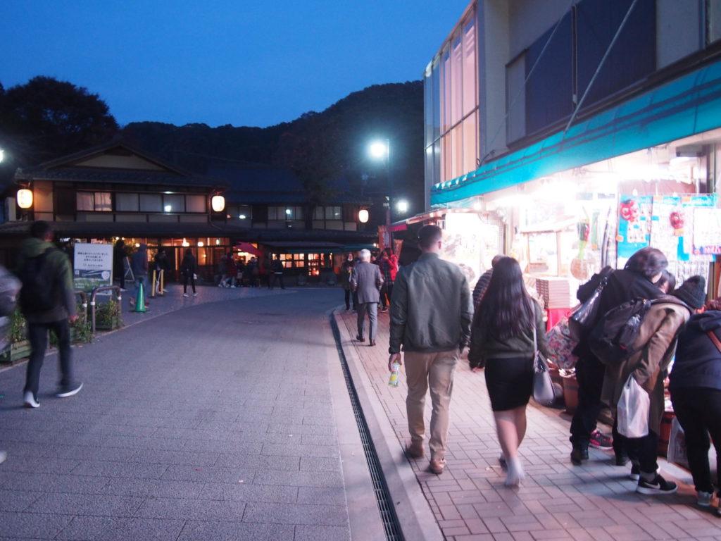 高尾山の夜
