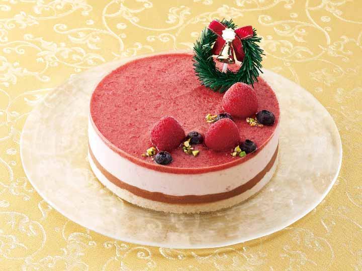 アントルメグラッセ・オ・フレーズ(苺とチョコのアイスケーキ)