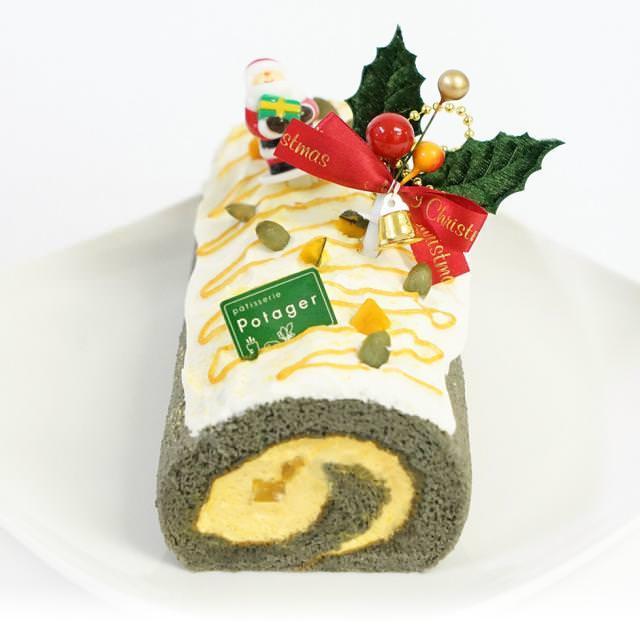 カボチャとキャラメルのロールケーキ