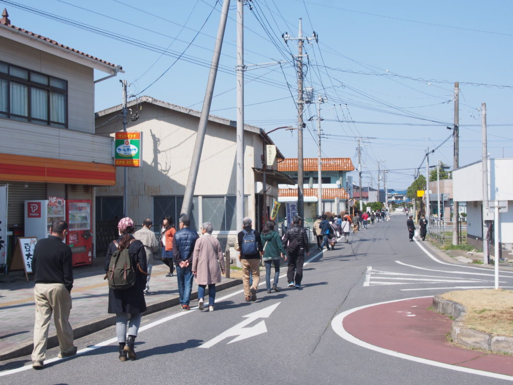 駅前から寺田本家への道のり