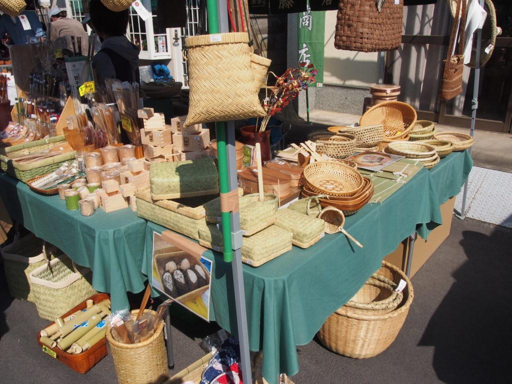 竹細工の編み籠