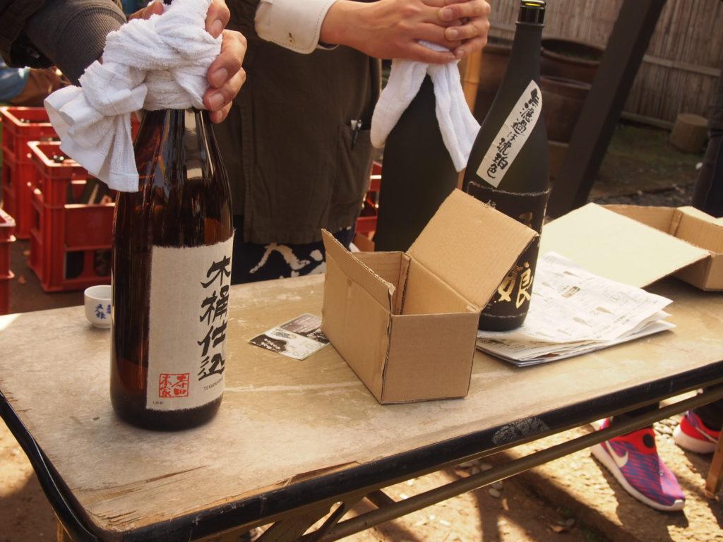 木桶仕込のお酒のブース