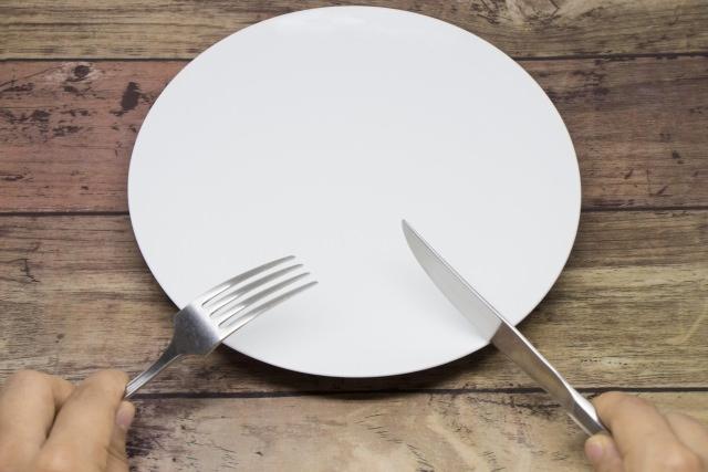 なにものっていないお皿(ダイエットイメージ)