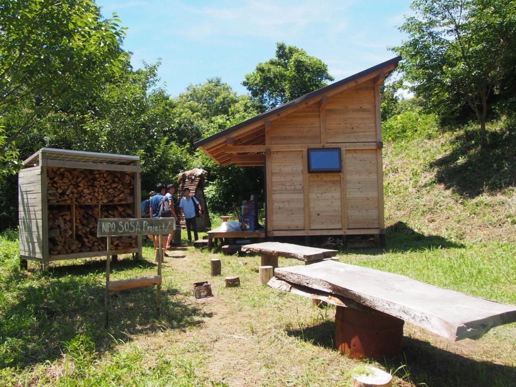 SORAプロジェクトで作ったテーブルや小屋
