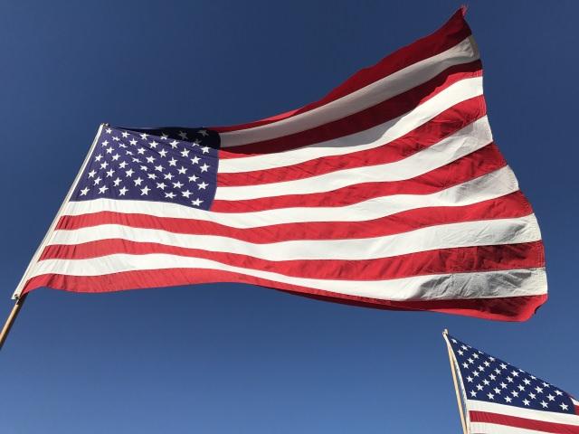 アメリカの国旗(トランプ大統領宇宙軍新設発表イメージ)