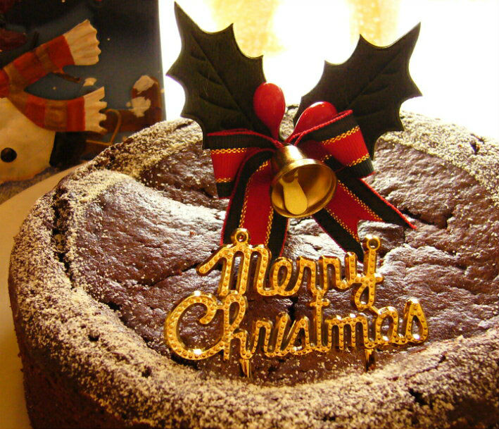 クリスマスケーキ マクロビガトーショコラ