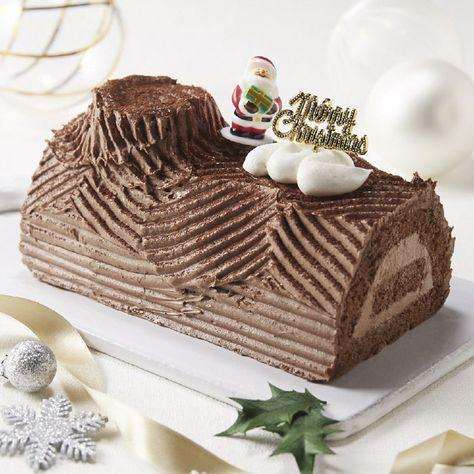 米粉と豆乳のチョコクリームブッシュドノエル