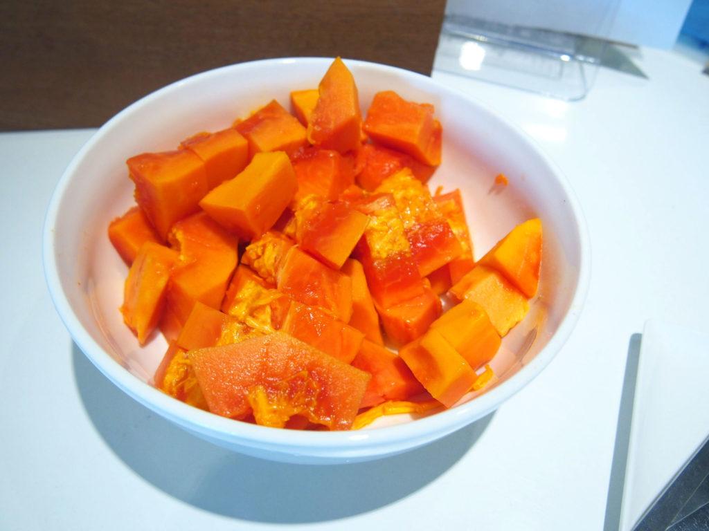 マンゴーの試食