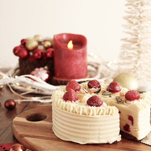 米粉といちごのクリスマスケーキ