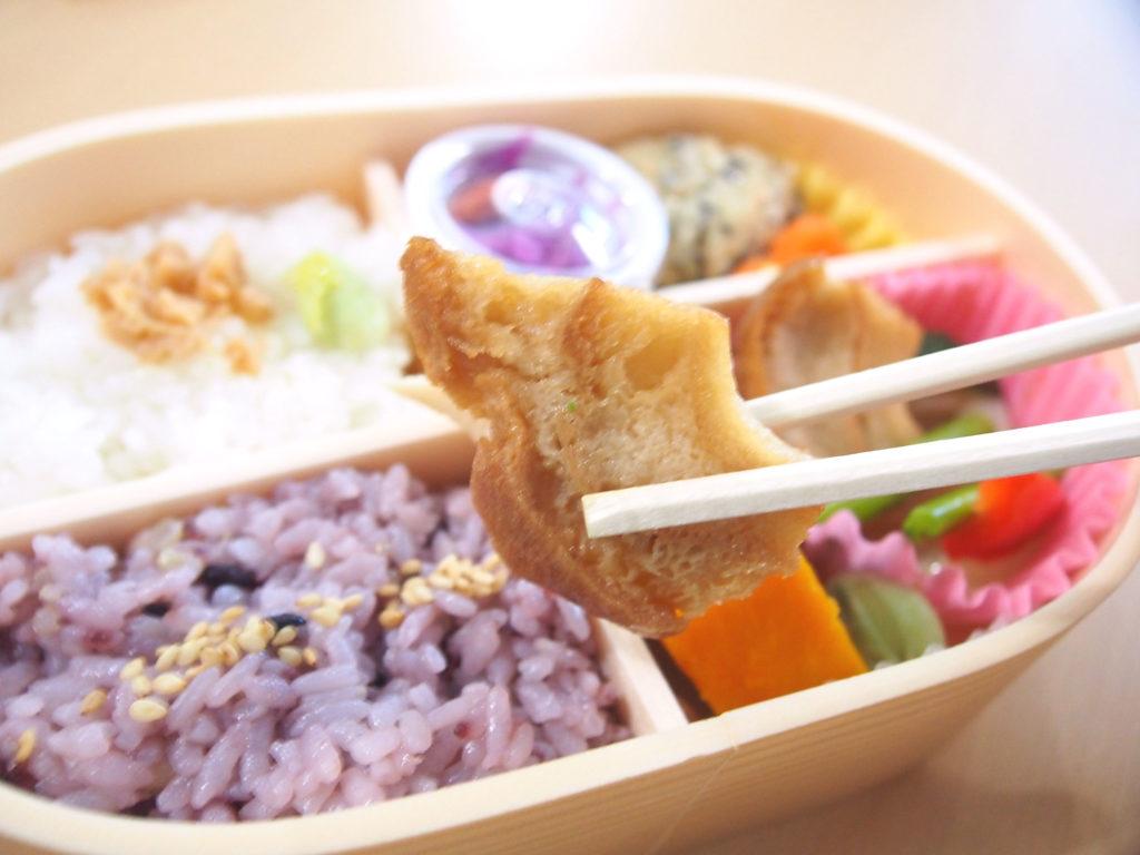 菜食弁当の車麩の唐揚げ