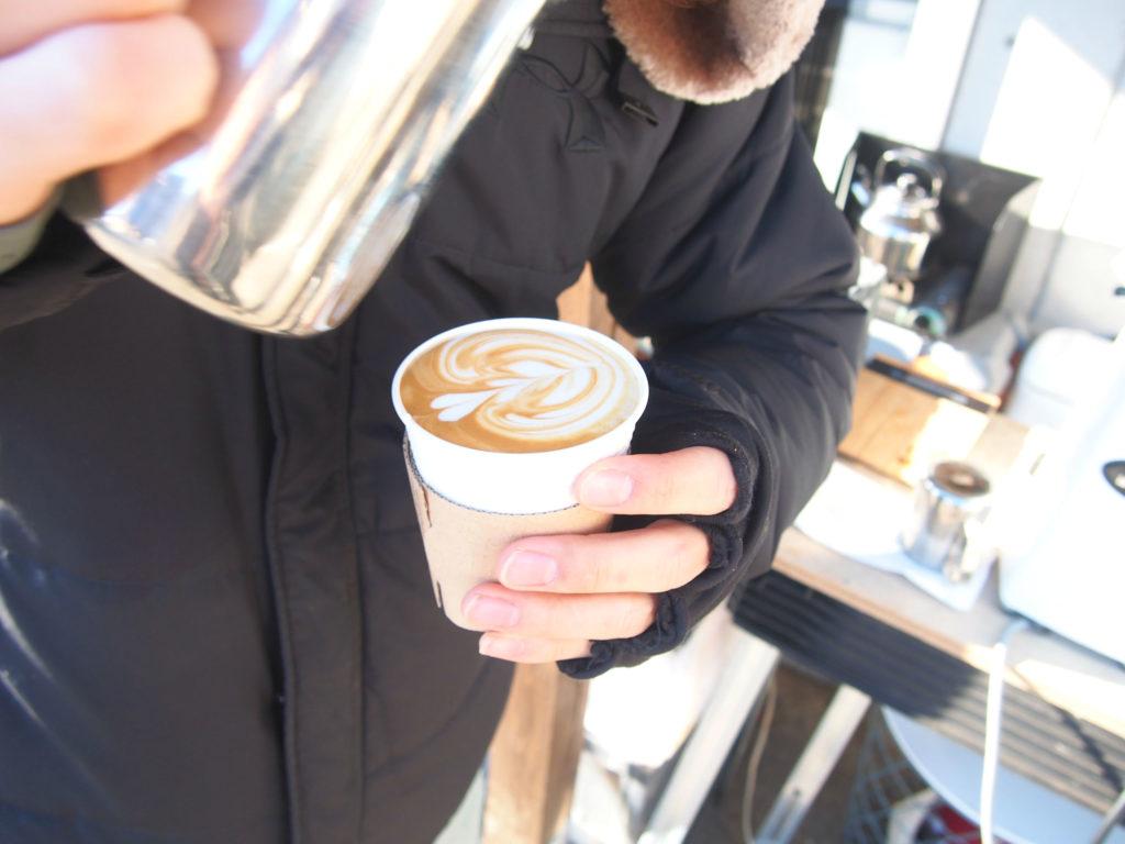 PLACE COFFEEのラテアート