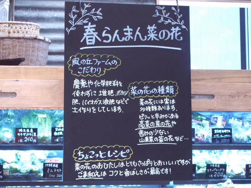 菜の花の看板
