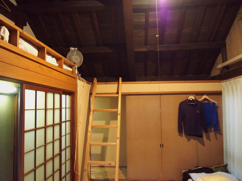宿泊部屋「空」のロフト