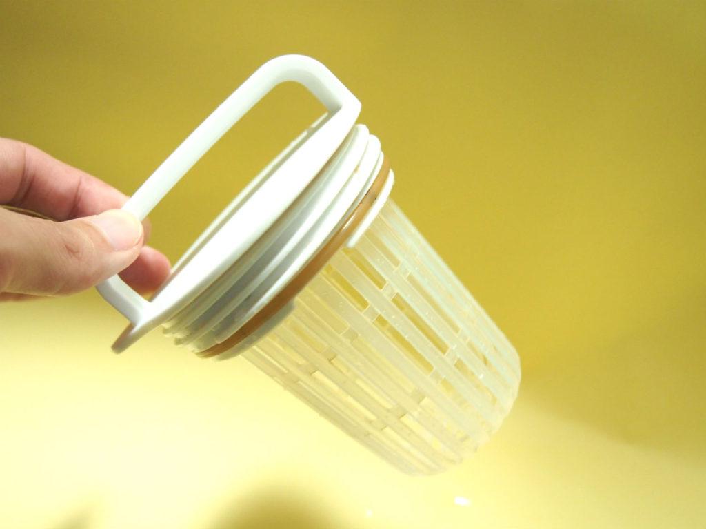 無印良品の冷水筒・ポットのお茶パックを入れる部分