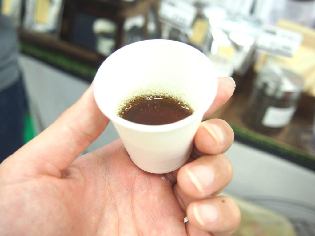 匝瑳メガソーラーシェアリングの大豆コーヒー