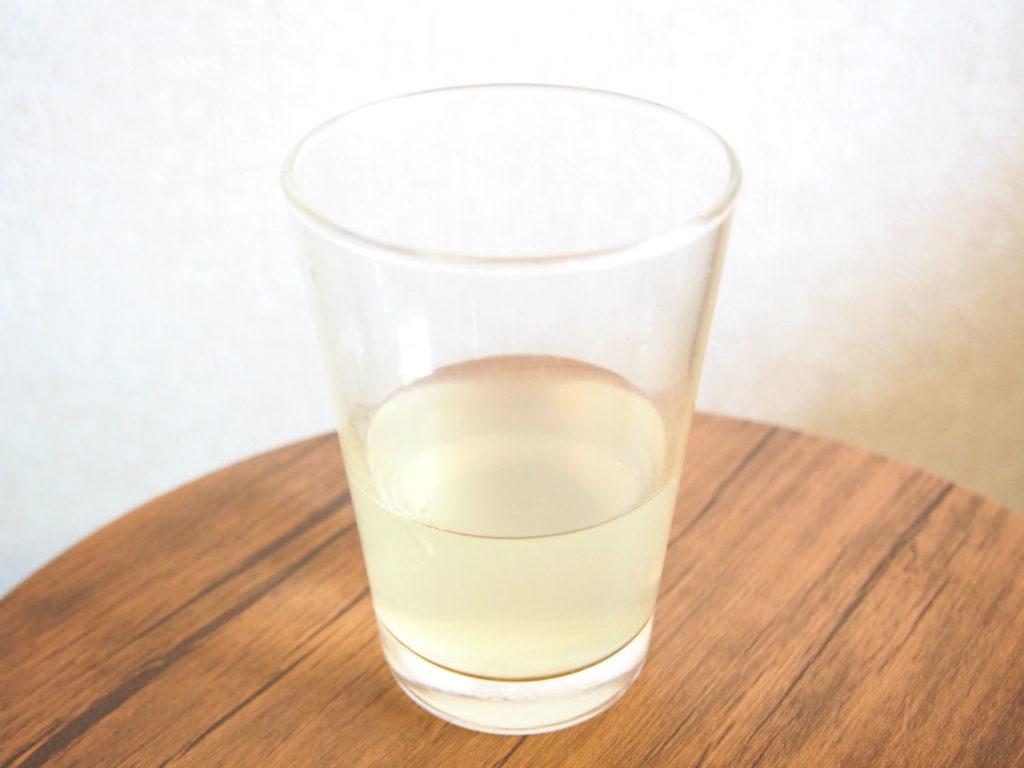 炭酸水で4倍に薄めた優光泉