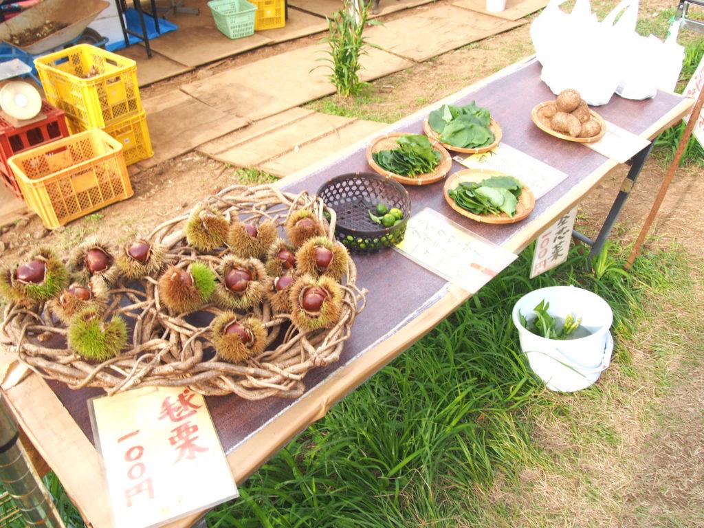 地元の方の野菜の販売