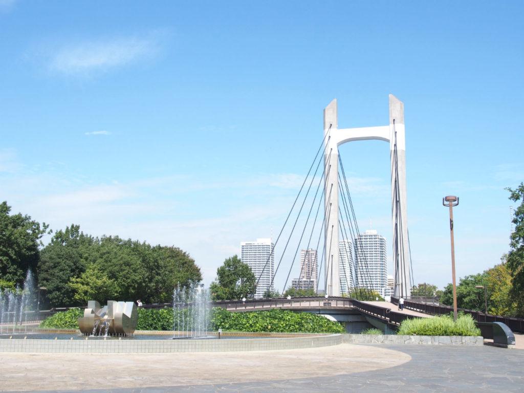 木場公園への橋