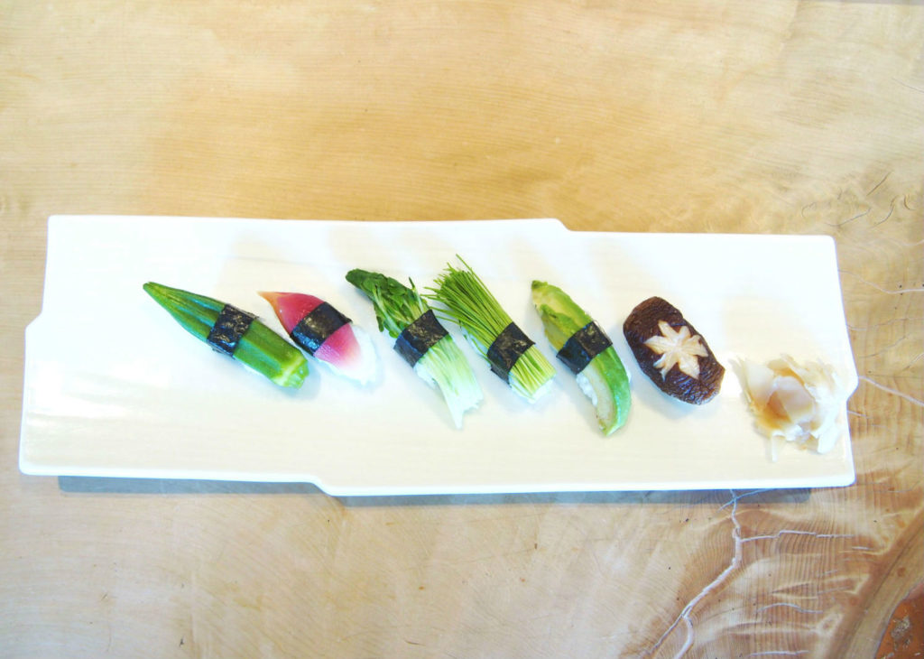 権八のヴィーガン握り(野菜寿司)