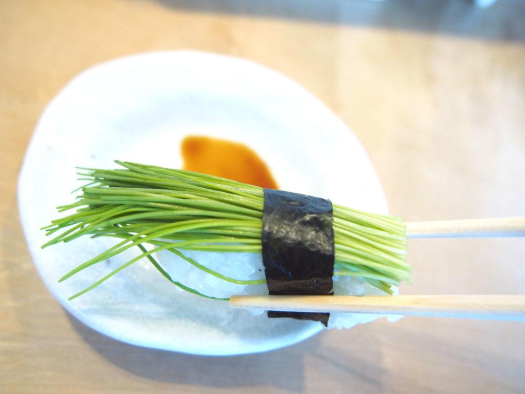 芽ネギのヴィーガン寿司