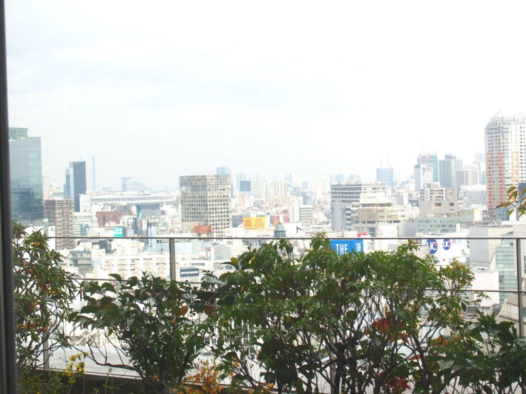 14階からの渋谷の街の風景