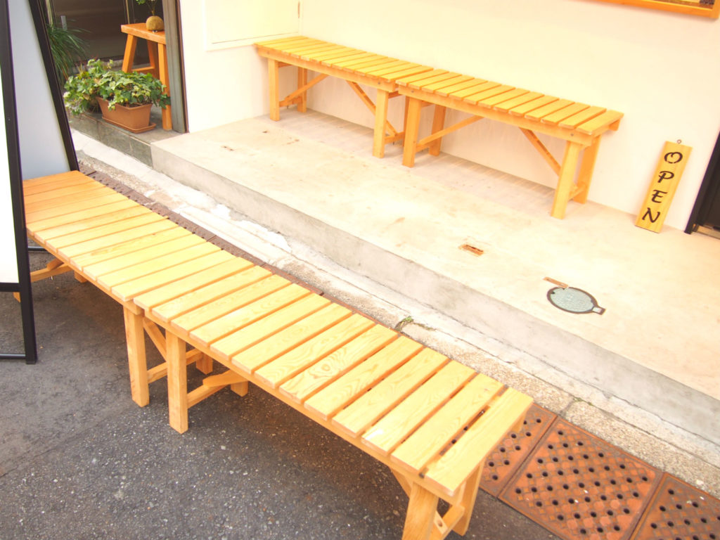 OHAGI3のベンチ