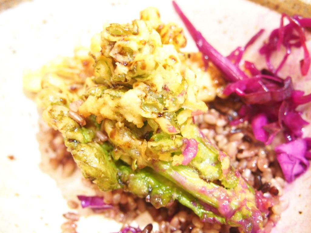 ベジ天丼の野菜