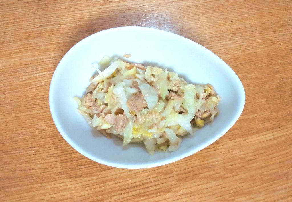 キャベツとライトツナフレークの炒め物